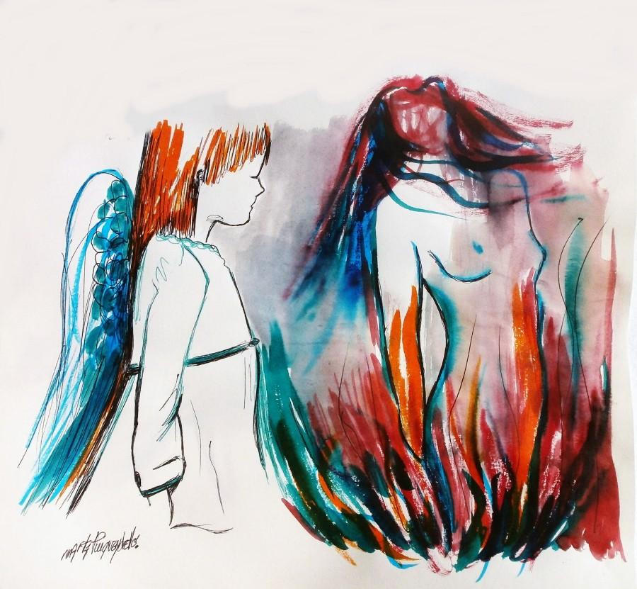 Pintura de l'artista vigatana Marta Puigvendrelló